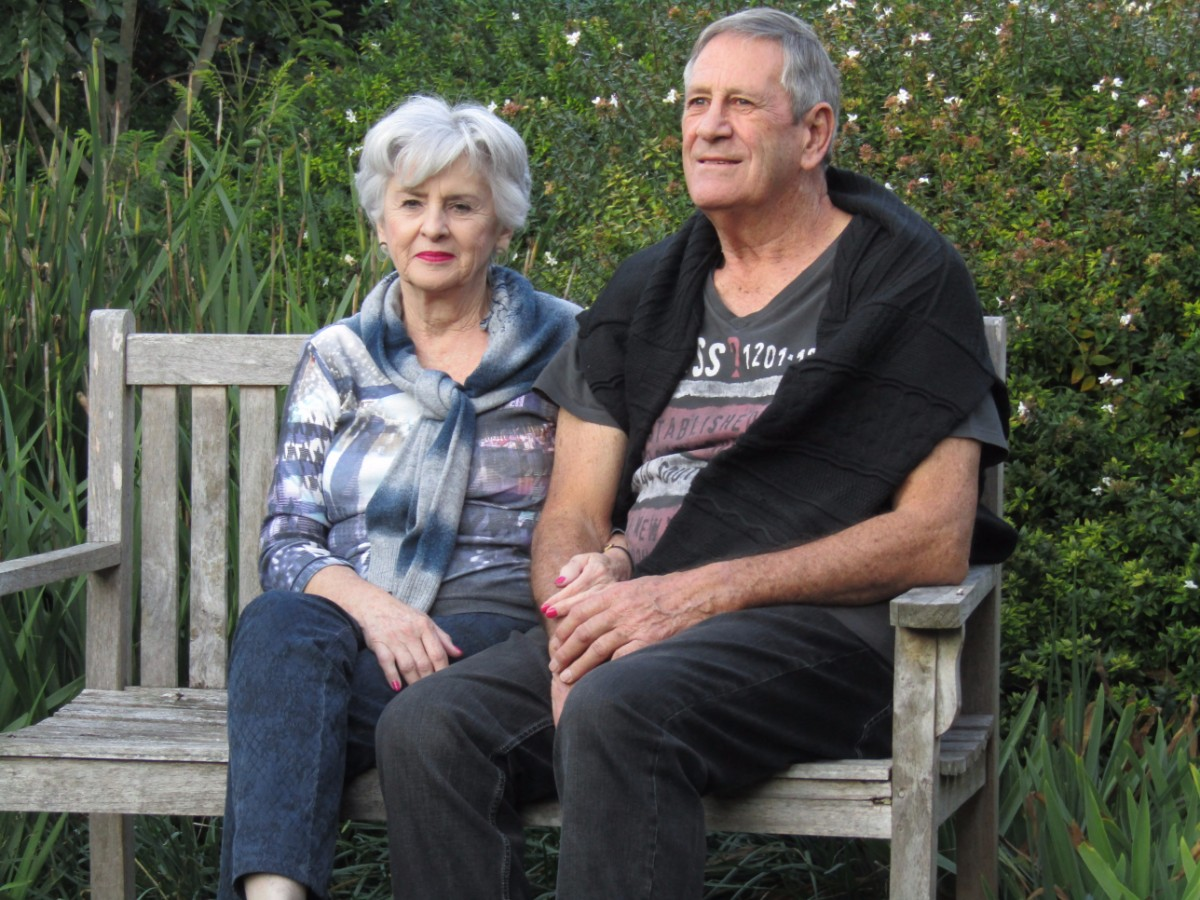 Adelaide couple discussing aged care options